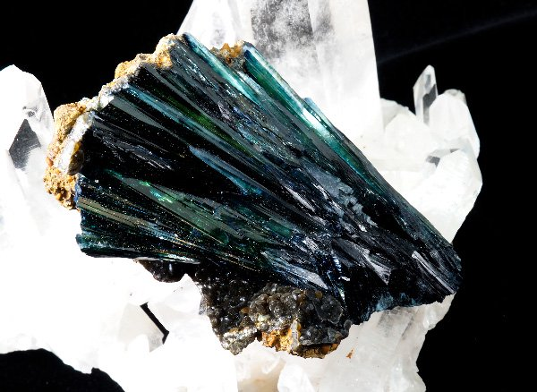 アマゾン川の源流の川底から採取された原石<BR>ヴィヴィアナイト(ビビアナイト)の結晶<BR>ブラジル・アマゾナス州アマゾン川産