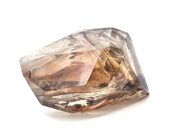 原石<br>美しすぎるスモーキーシトリンガーデンエレスチャルクォーツのポイント<BR>ブラジル・ミナスジェライス州・イチンガ産