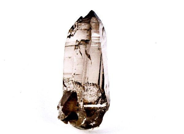 ガウリシャンカールの希少原石<BR>秀逸なスモーキー・クォーツのポイント<BR>ネパール・ガウリシャンカール産