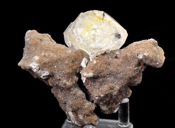 ★原石<br>母岩付きゴールデン ハーキマーダイヤモンド/ニューヨーク州ハーキマー産