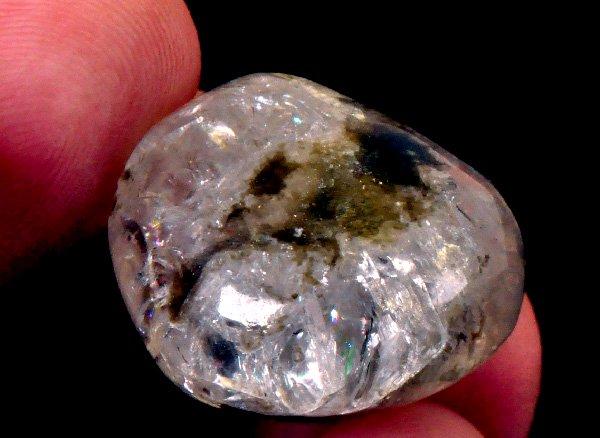 超稀少原石<br>レインボーフェナカイトのタンブル<BR>ロシア ウラル マリシェボ産