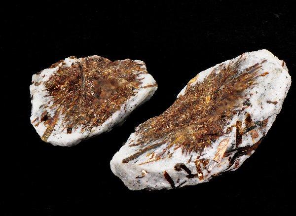希少原石<br>希望と先見性の石 アストロフィライト(ペア)<BR>ロシア・コラ半島産
