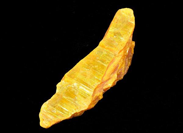 眩いばかりの黄金色!!<br>オーピメントの結晶原石<br>ロシア シベリア ヤクーツク産