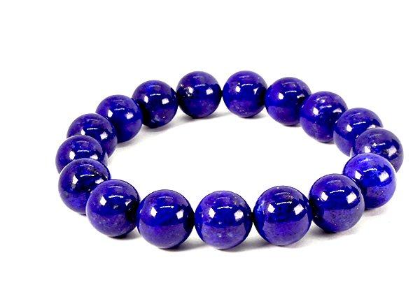 藍色の発色の凄いです!!<BR>ラピスラズリSAのブレスレット約12mm(17粒)腕回り:約16cm<br>アフガニスタン産