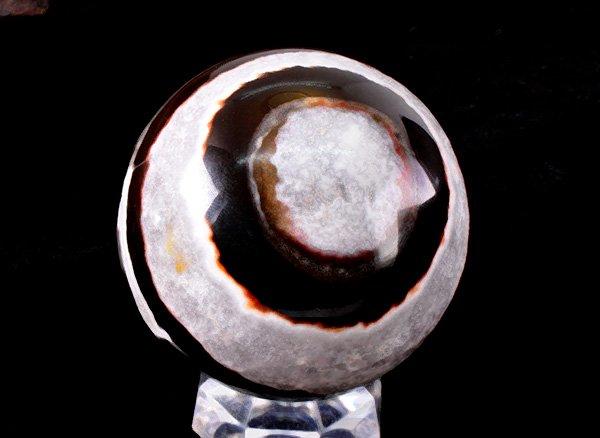 原石<BR>スレイマン(スレマニ / ソロモン・アゲート)のスフィア<br>南インド産