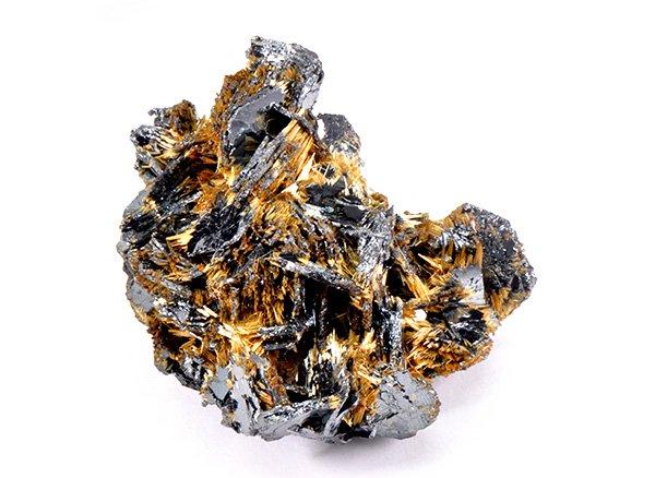 原石<br>ゴールドタイチンルチル&ヘマタイトの原石<BR>ブラジル・バイーア州産