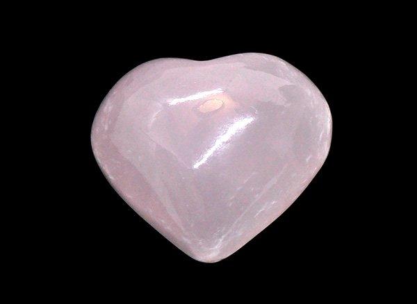 紫外線でメチャ可愛い!!<BR>ピンクマンガンカルサイトのハート原石<BR>アフガニスタン産