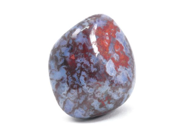 赤い錦石のようなレッドモスアゲート!!<br>ハンガリーアゲートのタンブル<BR>ハンガリー マトラ山脈産