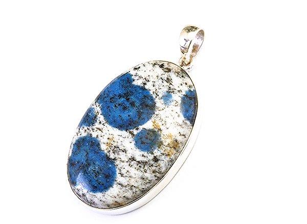 SV925シルバーペンダントトップ<br>世界第2位であるK2のみで産出される石 ヒマラヤK2ブルー(グラナイトインアズライト)<br>パキスタン・ギルギット・バルティスタン州