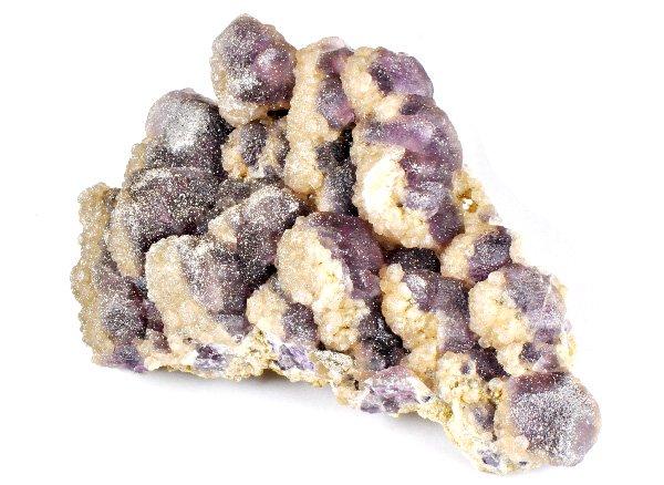 原石<br>パイライト入りフローライト(アラゴナイトやカルセドニーが共生)<br>内モンゴル産