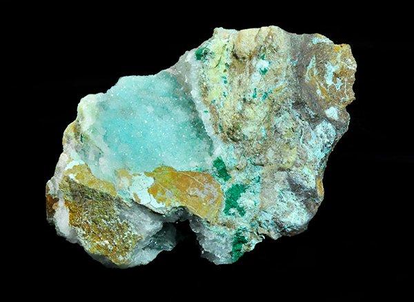 ★キラキラと輝くマリンブルーの結晶原石<br>マリンブルーの美しさ!!ジェムシリカドウルージー(シリシファイドクリソコラ)<br>ペルー・リリー産