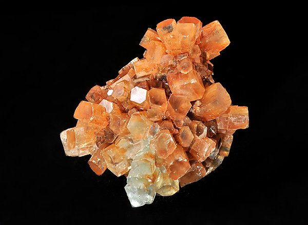 原石<BR>オレンジアラゴナイトの多結晶<BR>モロッコ産