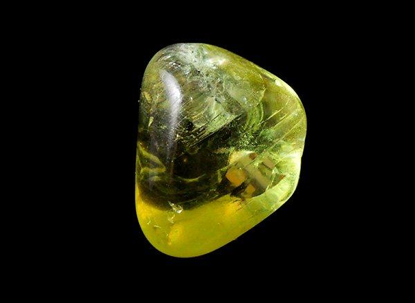 原石<br>幸せな気分にしてくれるイエローアパタイトのタンブル<br>メキシコ産