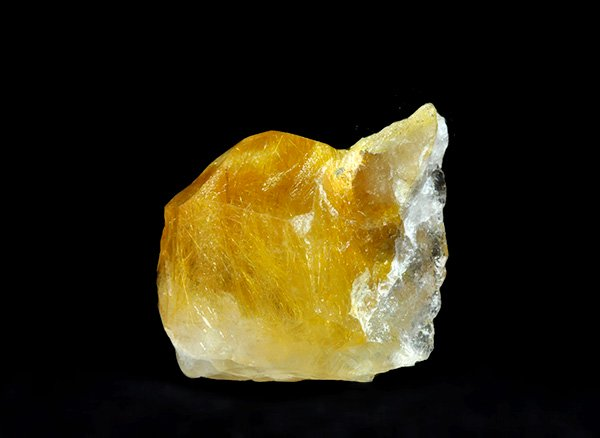 原石<br>ゴールデンルチルクォーツのポイント<br>ブラジル・バイア州・ノーヴォオリゾンテ産