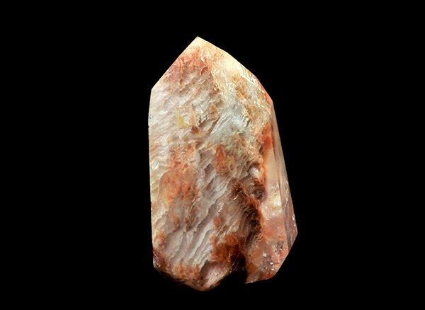原石<br>オレンジガーデンドラゴンファントム(龍脈水晶)のポイント<BR>ブラジル・ミナスジェライス州・クルベロ トマスゴンサガ産