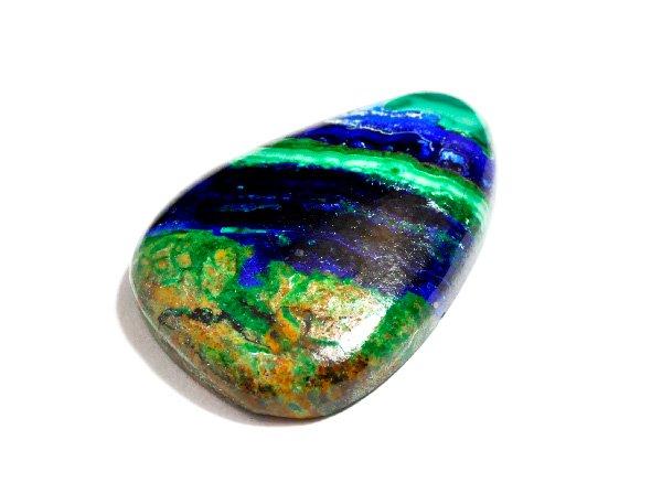 ★美しすぎる原石<br> アースカラーを彷彿とさせるアズロマラカイトSA<br>ペルー産