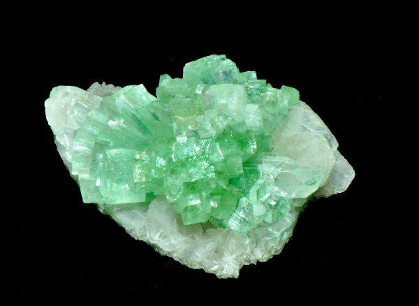 原石<br>グリーンアポフィライトの結晶<br>インド・マハラシュトラ州・ラフリ産