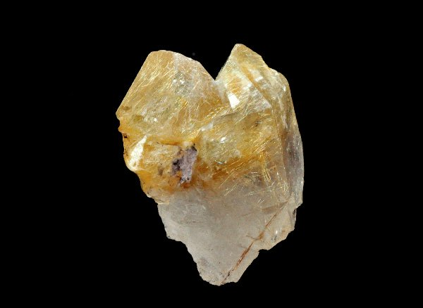 原石<br>ゴールデンルチルクォーツのソウルメイトポイント<br>ブラジル・バイア州・ノーヴォオリゾンテ産