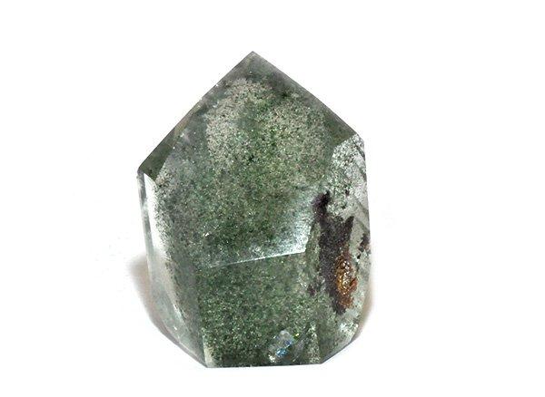 原石<br>ガーデンドラゴンファントム(龍脈水晶)のポイント<BR>ブラジル・ミナスジェライス州・コリント産