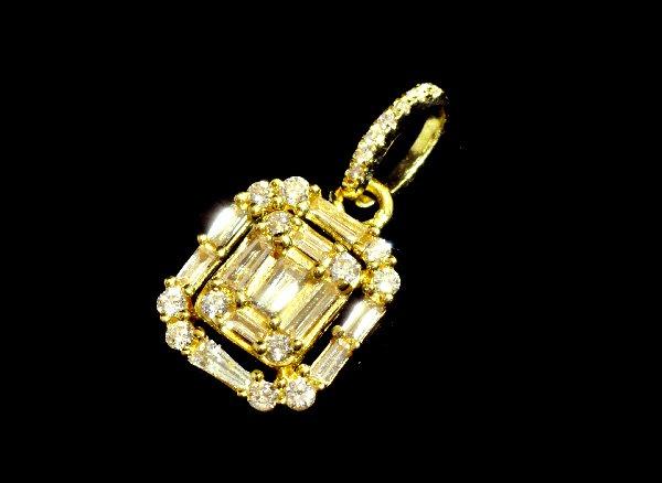 ★スペシャルキャンペーンプライス!! <br>4月の誕生石 ダイヤモンド18KYGペンダントトップ