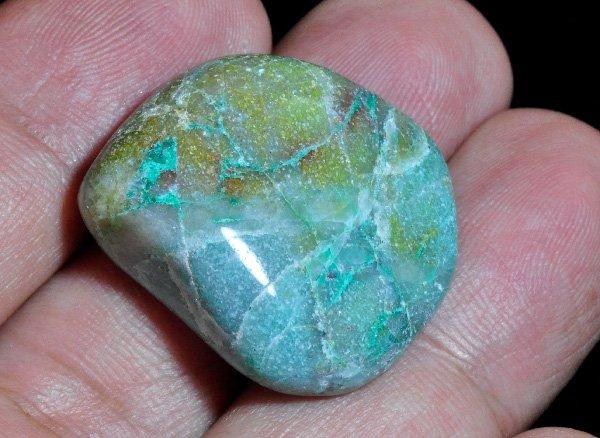 アースカラーの美しい原石<br>アフリカンクォンタムクワトロシリカのタンブル<br>コンゴ、ザイール国境付近