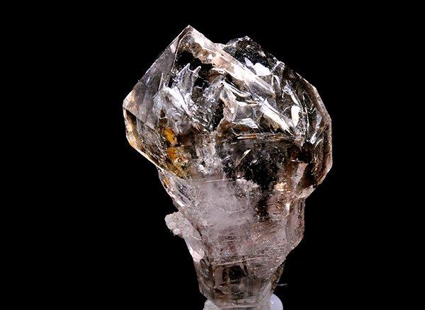 原石<BR>スモーキーセプターエレスチャルクォーツのポイント(松茸茶水晶)<BR>ナミビア・ゴボボセブ山脈ブランドバーグ山産