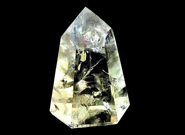 原石<br>天然色レインボーシトリン・エレスチャルのポイント<BR>ブラジル ミナスジェライス州 アラスアイ産