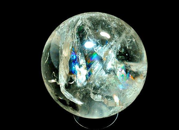原石<br>天然色レインボーシトリンのスフィア(丸玉)<BR>ブラジル ミナスジェライス州 イチンガ産