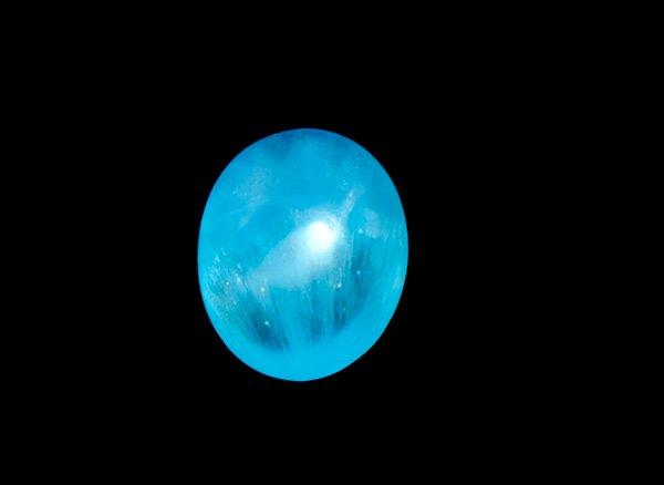 希少宝石<BR>ブルーの発色が美しいエスペランサ(ヘミモルファイト)のカボションルース0.34ct<BR>コンゴ産