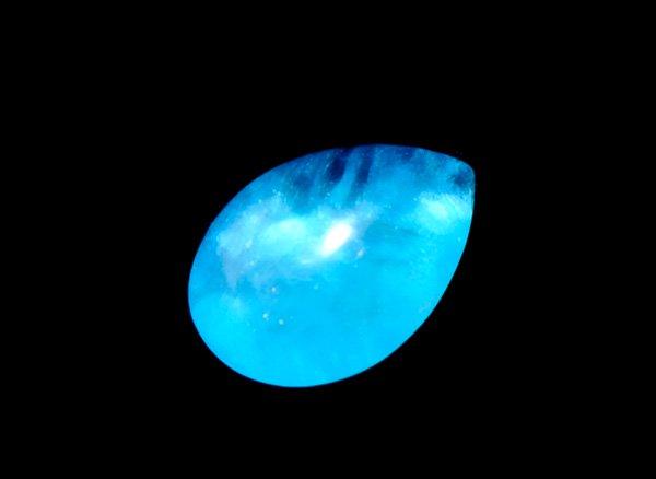 希少宝石<BR>ブルーの発色が美しいエスペランサ(ヘミモルファイト)のペアシェイプルース0.32ct<BR>コンゴ産