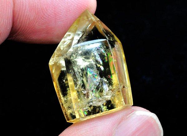 原石<br>美しすぎる天然色レインボーシトリンSAのポイント<BR>ザイール産