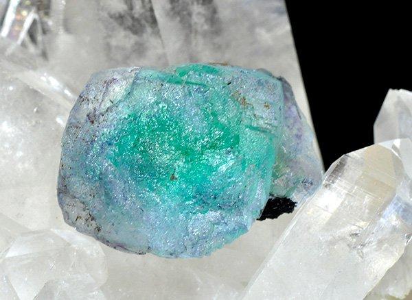 新たに発見された希少原石<br>ブルーグリーンフローライトの結晶<br>ナミビア・エロンゴ産