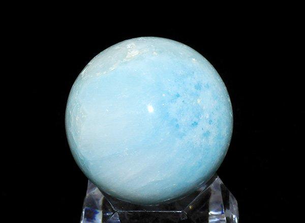 原石<BR>ブルーアラゴナイトのスフィア(丸玉)<BR>中国産