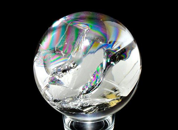 希少大玉虹水晶<br>美しすぎるシリウスレムリアンのレインボー水晶・スフィア(丸玉)3300g<br>ブラジル・バイーア州産