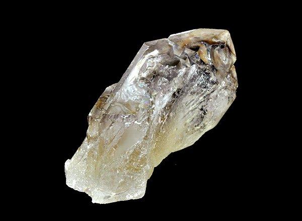 原石<br>天然色シトリン・エレスチャルのポイント<BR>ブラジル ミナスジェライス州 アラスアイ産