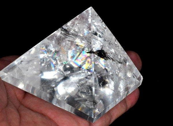 原石<br>レインボーピラミッドレムリアンクリスタル<br>ブラジル・バイーア州産