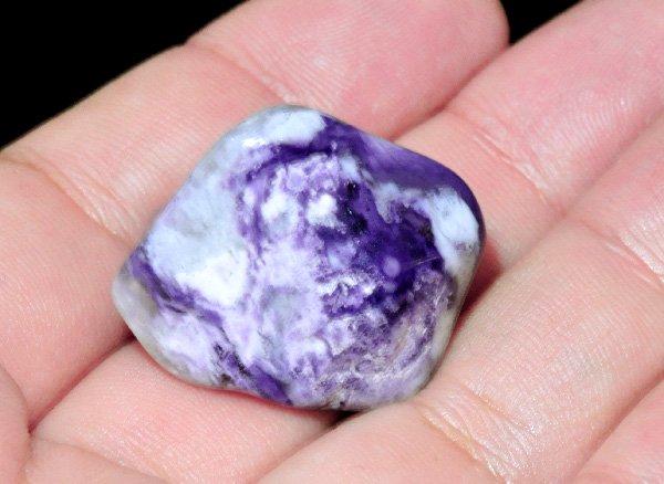 原石<br>ティファニーストーンのタンブル<br>アメリカ・ユタ州産