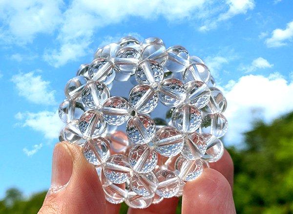 グレートセントラルサンの永久機関!!<br>神聖幾何学フラーレンクリスタル水晶SA 6mm 32面体<br>ブラジル・ミナスジェライス州産