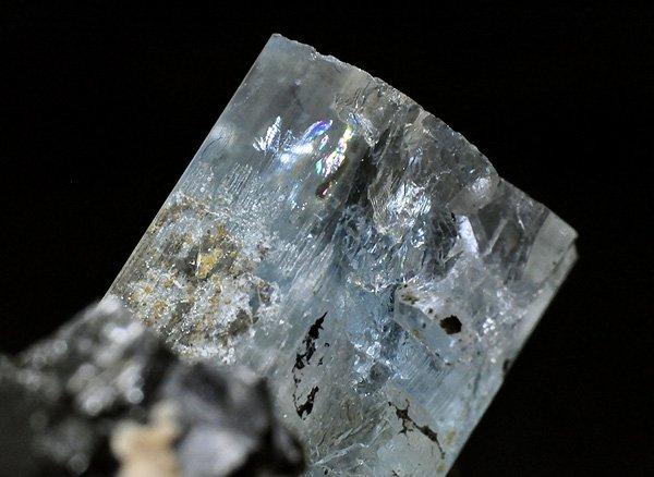原石<br>サンタマリア・アクアマリンとブラック・トルマリンの結晶<br>ナミビア・エロンゴ産
