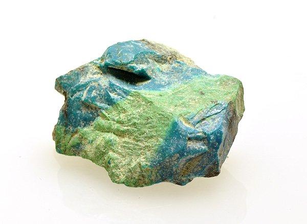 原石<br>クリソコラの原石<br>ペルー・アレキパ県アカリ鉱山産