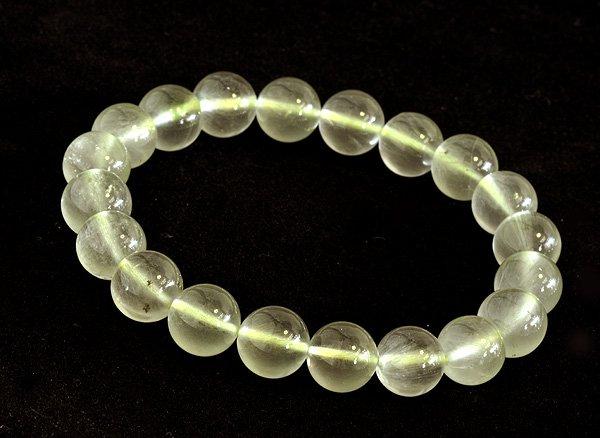 ブレスレット<br>山梨水晶(グリーン・クォーツ)10.5mm<br>乙女鉱山産