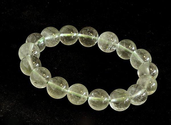 ブレスレット<br>山梨水晶(グリーン・クォーツ)12mm<br>乙女鉱山産