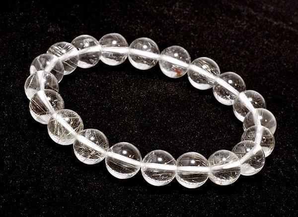 ブレスレット<br>山梨水晶(ルチル入り) 10mm<br>乙女鉱山産