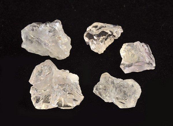 原石<BR> ピンク・クリスタル・セット(ローズクォーツの結晶)<BR> ブラジル・ミナスジェライス州・イチンガ産