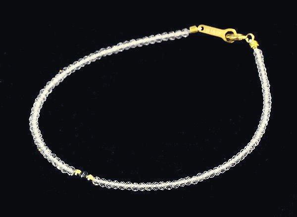 ブレスレット<br>宝石質なトパーズのブレスレット(ブラック・ダイヤモンド入り)